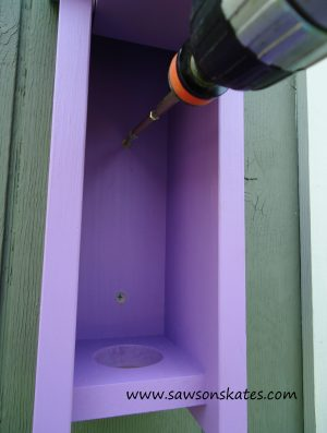 Birdhouse Poop Bag Dispenser install