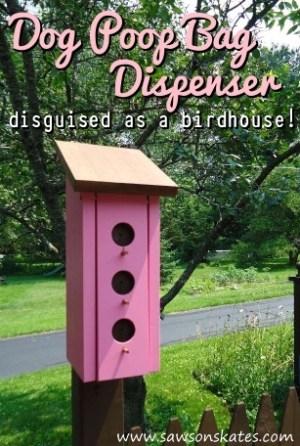 How to Make Dog Birdhouse Poop Bag Dispenser