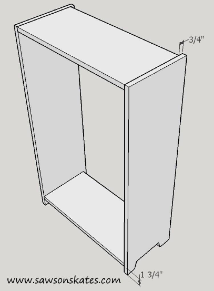 basement window cabinet box