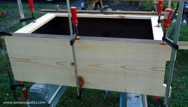 basement window cabinet clamp face frame