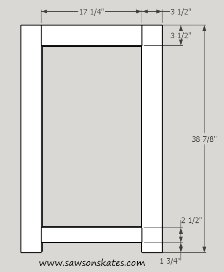 basement window cabinet face frame