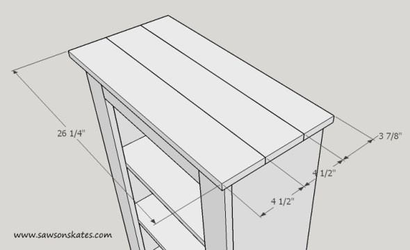 basement window cabinet top