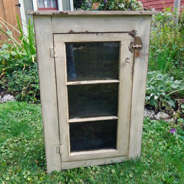 DIY Repurposed Basement Window Cabinet