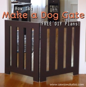 how to make a dog gate