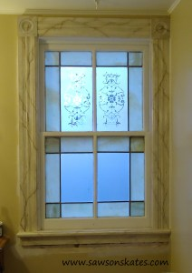 window interior trim installed sos