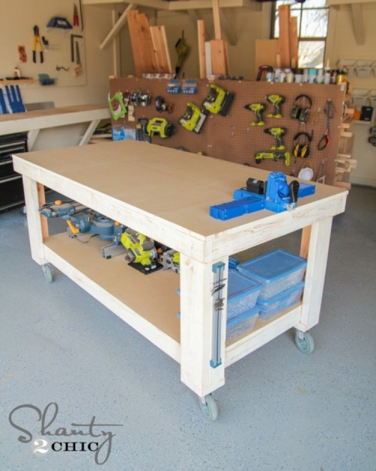 Simple DIY Workbench Shanty 2 Chic