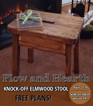 Free plans to make Knock off Plow & Hearth Elmwood Stool