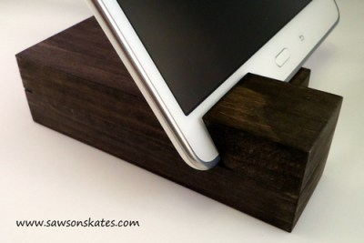 tablet holder close up