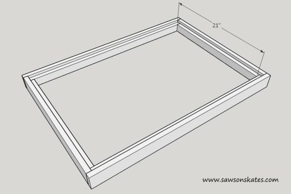 flip top cart table interior short