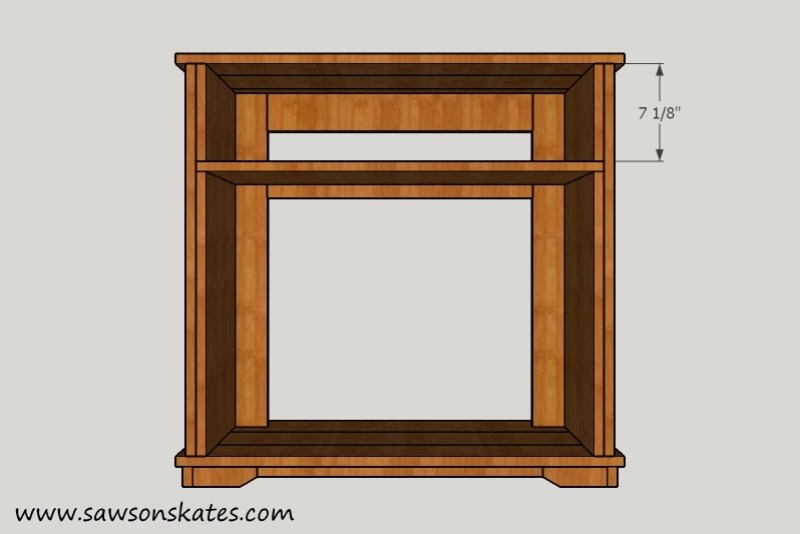 Fireplace Top Side Panels