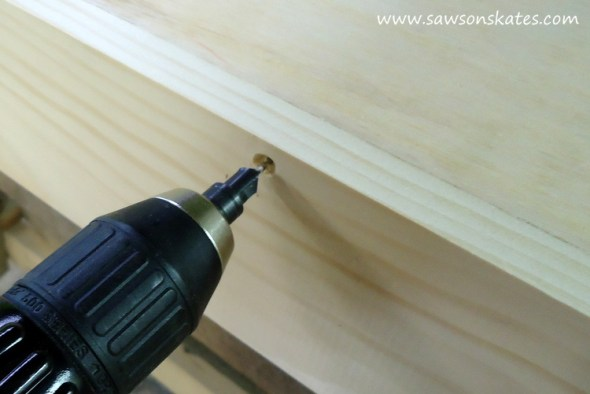 folding workbench top installation 2