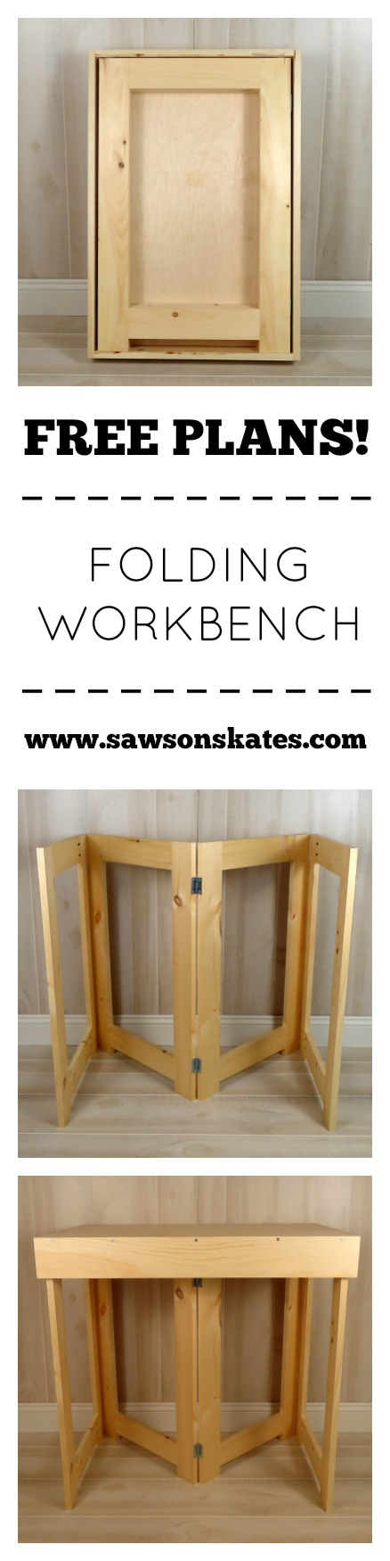 how to make a folding workbench free plans