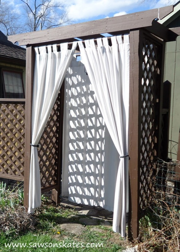 DIY Privacy Fence curtain
