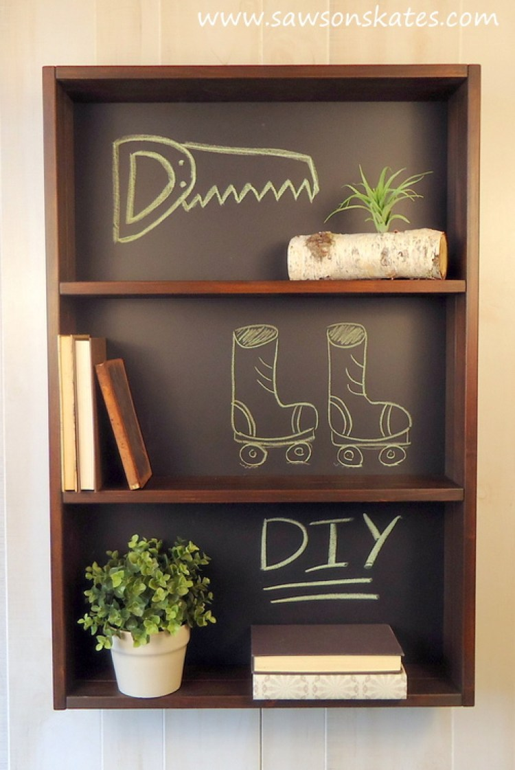 diy chalkboard shelf 2
