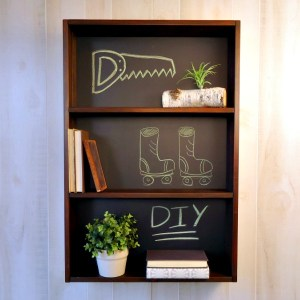 DIY Knockoff Chalkboard Shelf