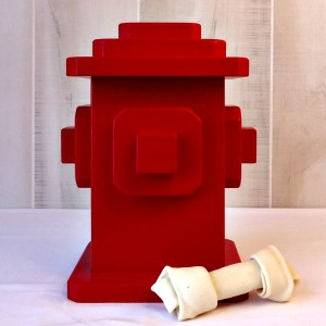 DIY Dog Treats Fire Hydrant Container