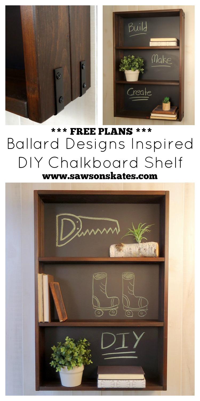 diy knockoff chalkboard shelf how to make a diy ballard designs chalkboard shelf