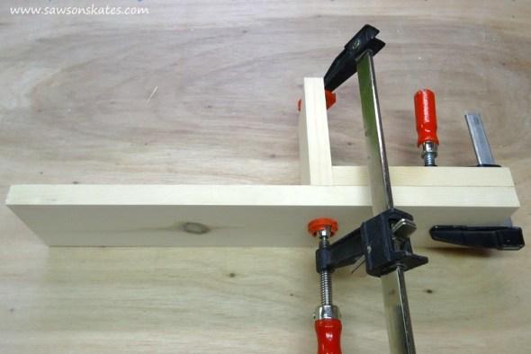 DIY Chalkboard Shadowbox attach right shelf