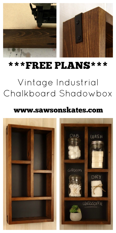 DIY Chalkboard Shadowbox & DIY Vintage Industrial Chalkboard Shadowbox Aboutintivar.Com