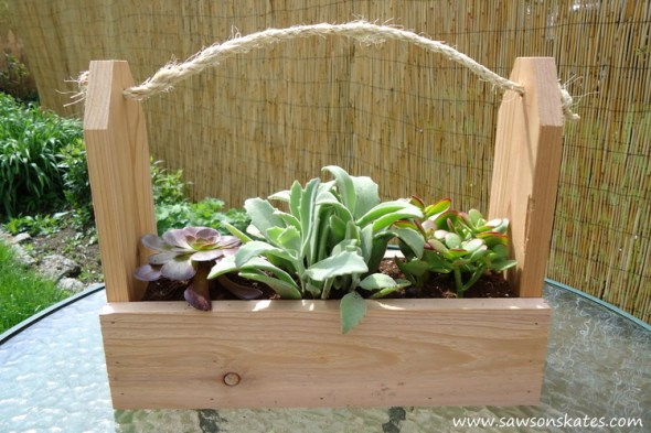 diy tool caddy planter finished 2