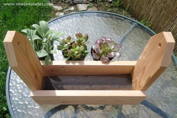diy tool caddy planter screen