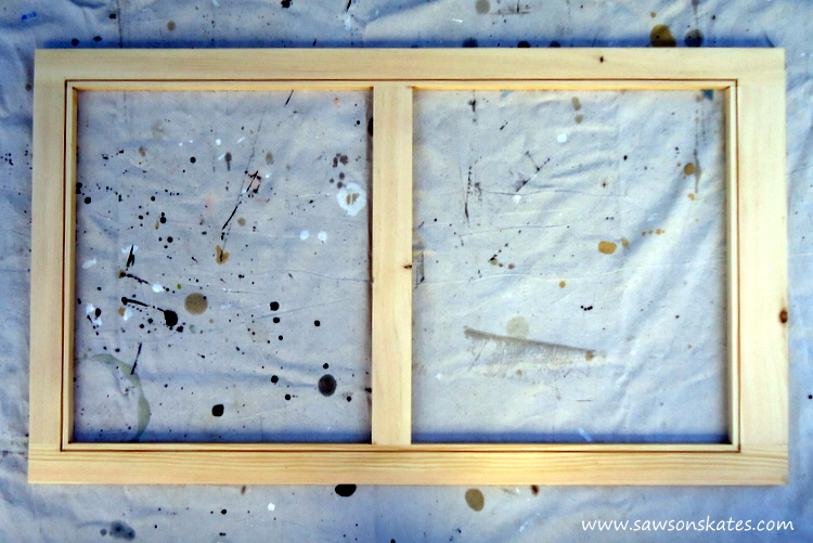 diy wood window completed frame