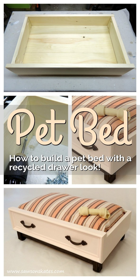 how to build a diy dog bed with recycled drawer look