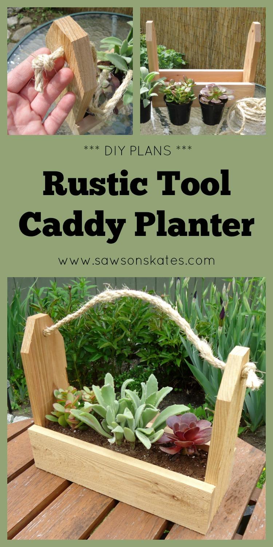 how to make diy tool caddy planter