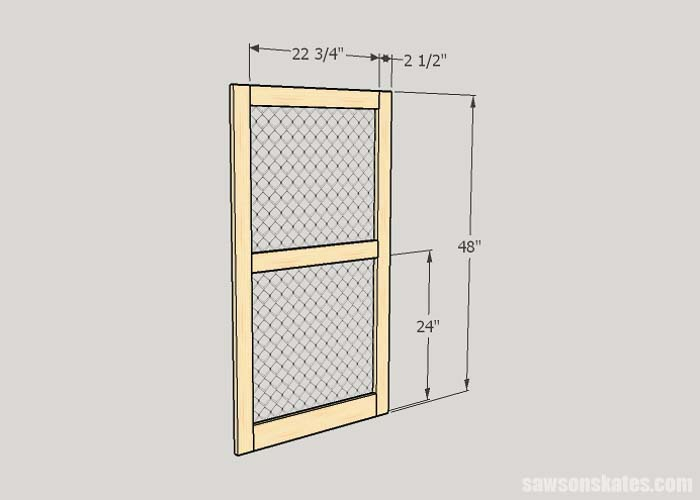Sketch showing the dimensions to make a DIY window screen