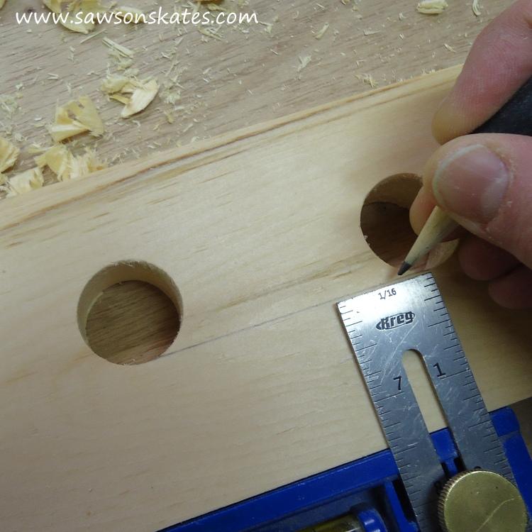 diy bar cart marking handles 2