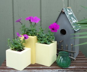 DIY Tiered Wood Planter at Domestically Speaking