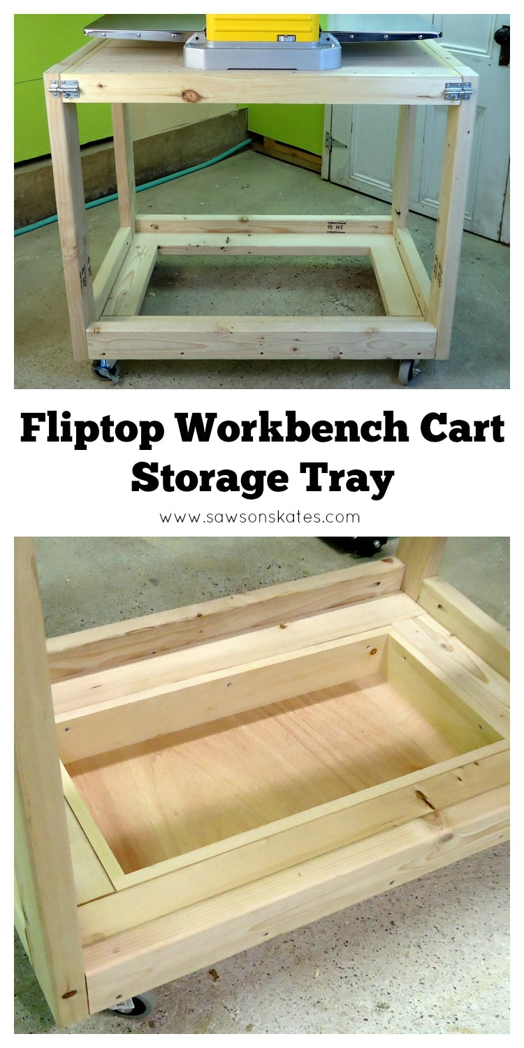 fliptop workbench cart storage tray pin