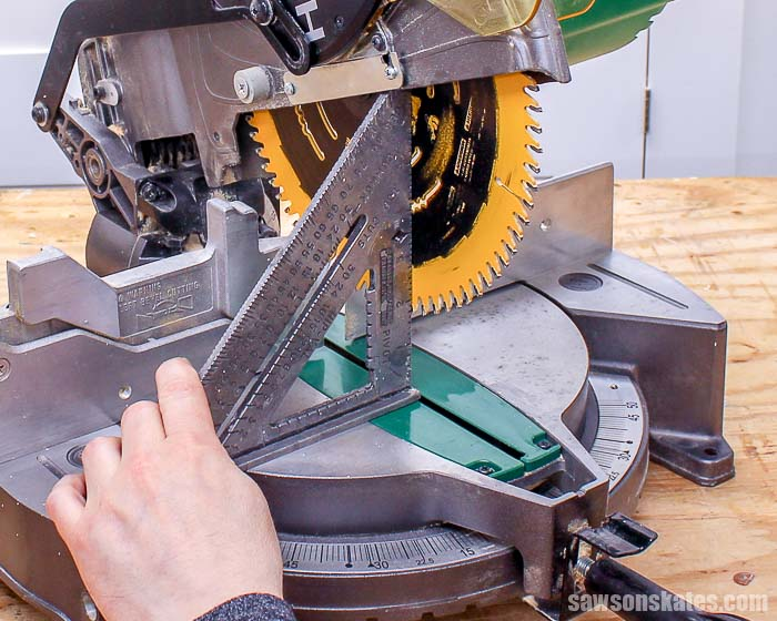 Is your miter saw cutting crooked? It's easy to fix! Simple adjustments to the saw blade and the fence will guarantee straight and accurate cuts every time.