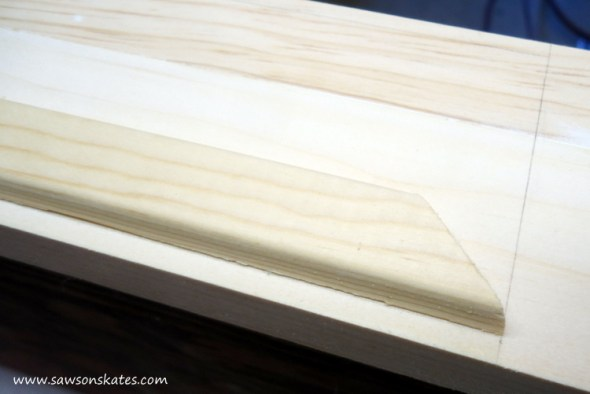 DIY Corner Cabinet - install the side moulding 4