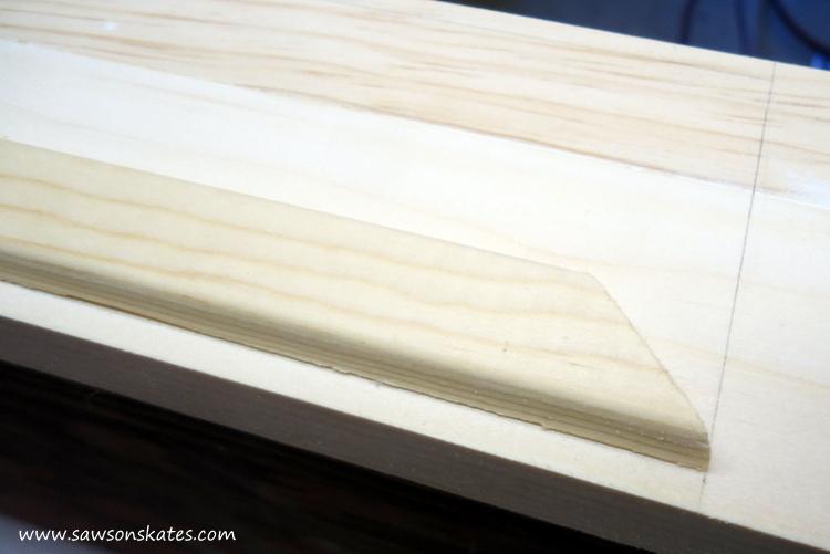 DIY Corner Cabinet - install the side moulding 4