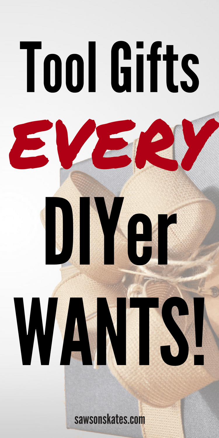 "Looking for the best tool gift ideas and stocking stuffer ideas? Here's a list of the ""gotta have it"" tools and awesome products for the DIYer and DIY furniture builder on your gift giving list!"