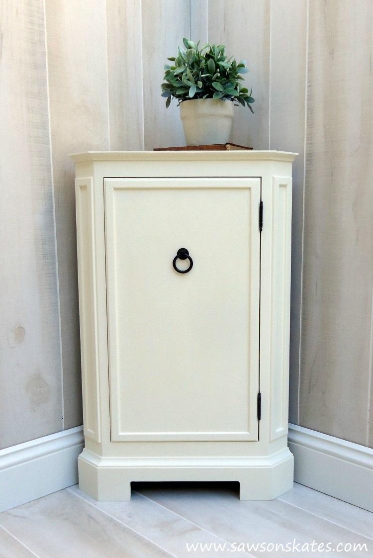 DIY Corner Cabinet Inspired by Catalog Retailer