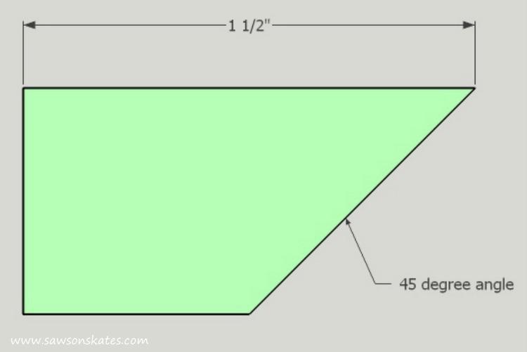 DIY Corner Cabinet - narrow corner dimensions