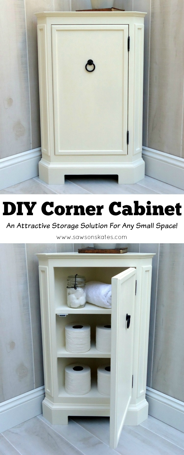 Build This Small DIY Corner Cabinet! Itu0027s Great For The