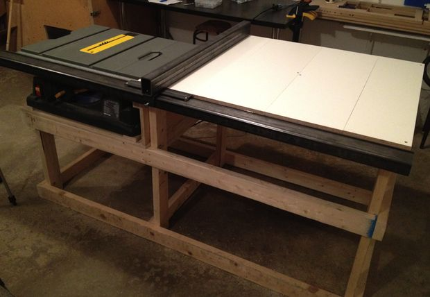 6 DIY Table Saw Stations For A Small Workshop   Table Saw Station By  Confounded Machine