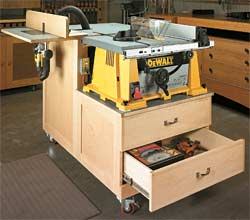 6 DIY Table Saw Stations for a Small Workshop - Table Saw Workstation by ShopNotes