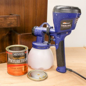 Spray Polyurethane Rather Than Brush for Professional Looking DIY Furniture