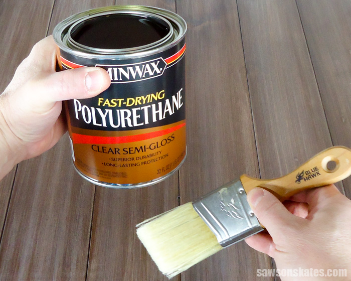 This DIY finish for wood is easy to make and way easier than polyurethane to apply. It just wipes on!