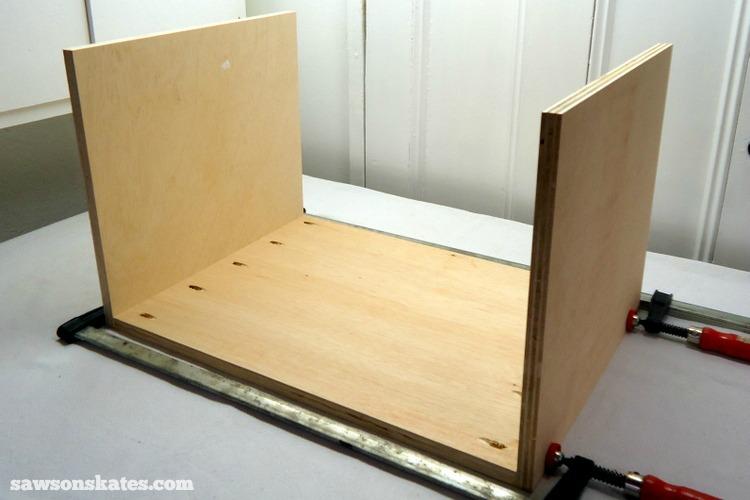 DIY Mid-Century Modern Nightstand - carcass assembly 1