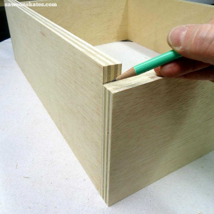 DIY Mid-Century Modern Nightstand - drawer box 3