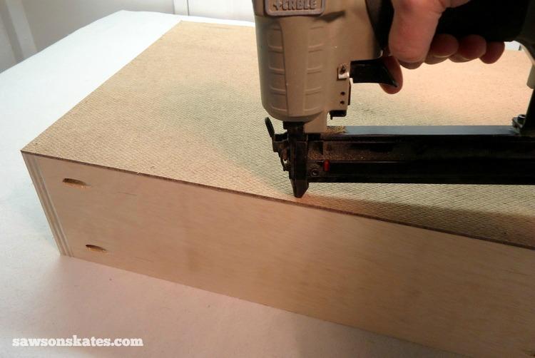 DIY Mid-Century Modern Nightstand - drawer box 5