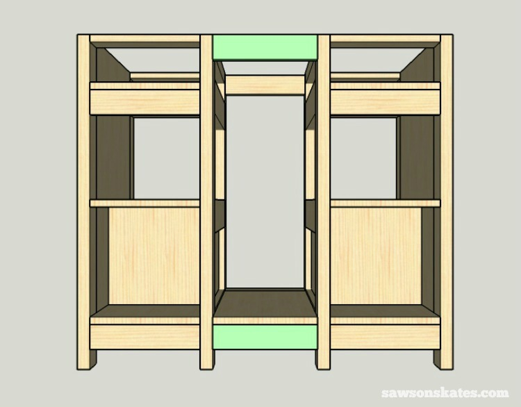 DIY Wine Credenza - Wine Cabinet - middle assembly 3