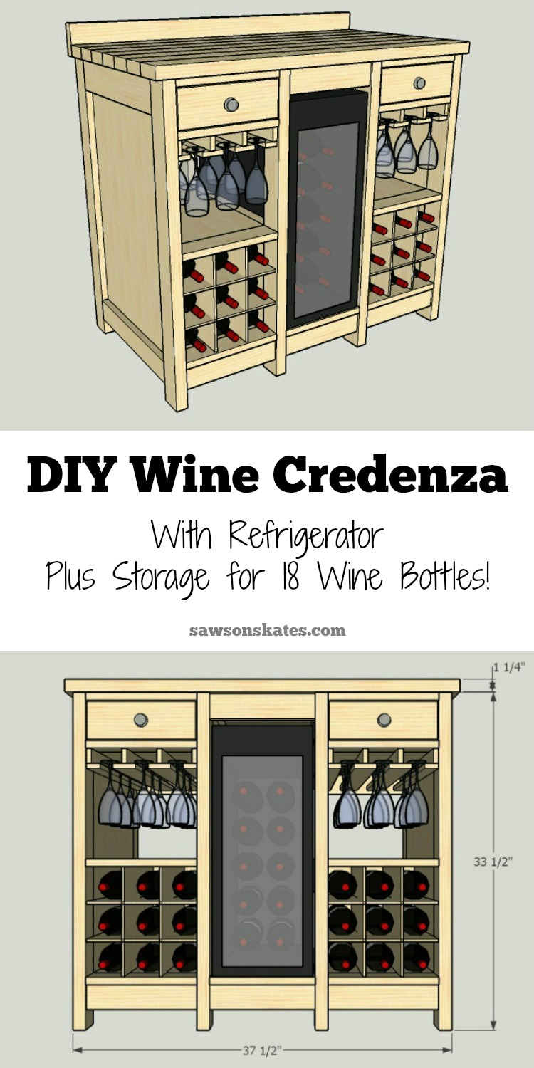 one of the best wine storage cabinet ideas iu0027ve seen this small diy - Wine Credenza