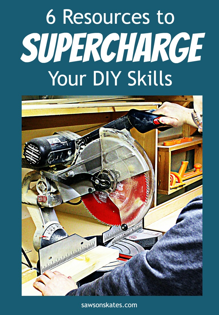 Not confident in your DIY skills? Looking for ideas about how to rev up your DIY knowledge? Learning how to make DIY projects, like furniture and more is easy with this comprehensive list of 6 resources to supercharge your DIY skills.