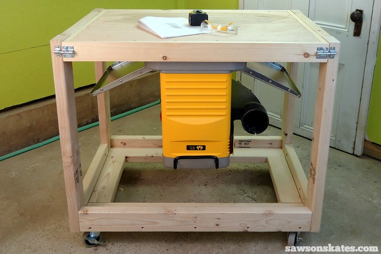 A fliptop workbench cart is a space-saving solution for DIYers without a workshop
